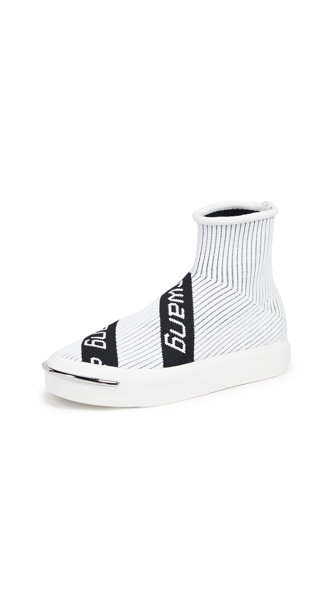 Alexander Wang Pia Knit Sneakers - White