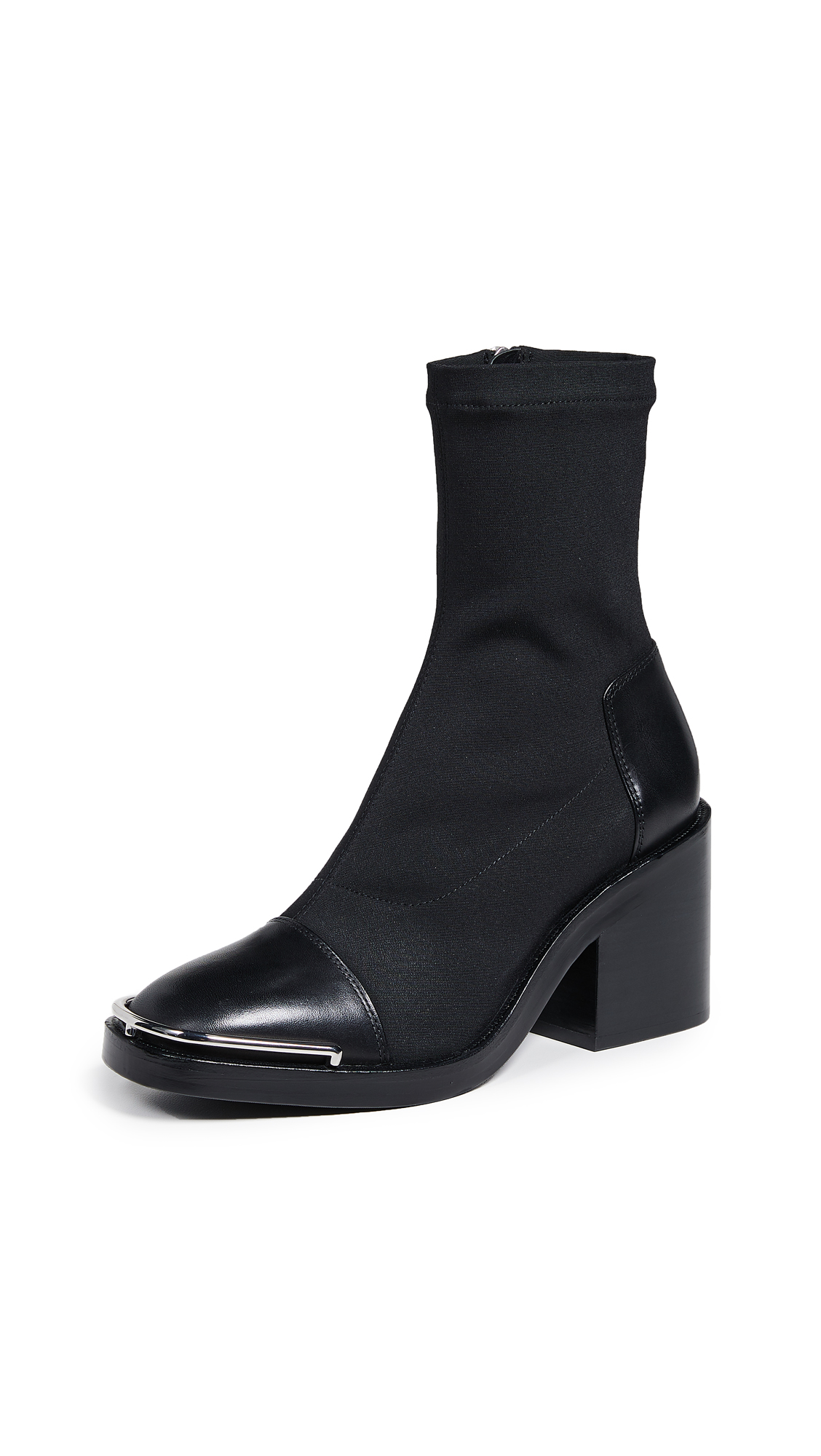 Alexander Wang Hailey Mid Sock Heel Boots - Black