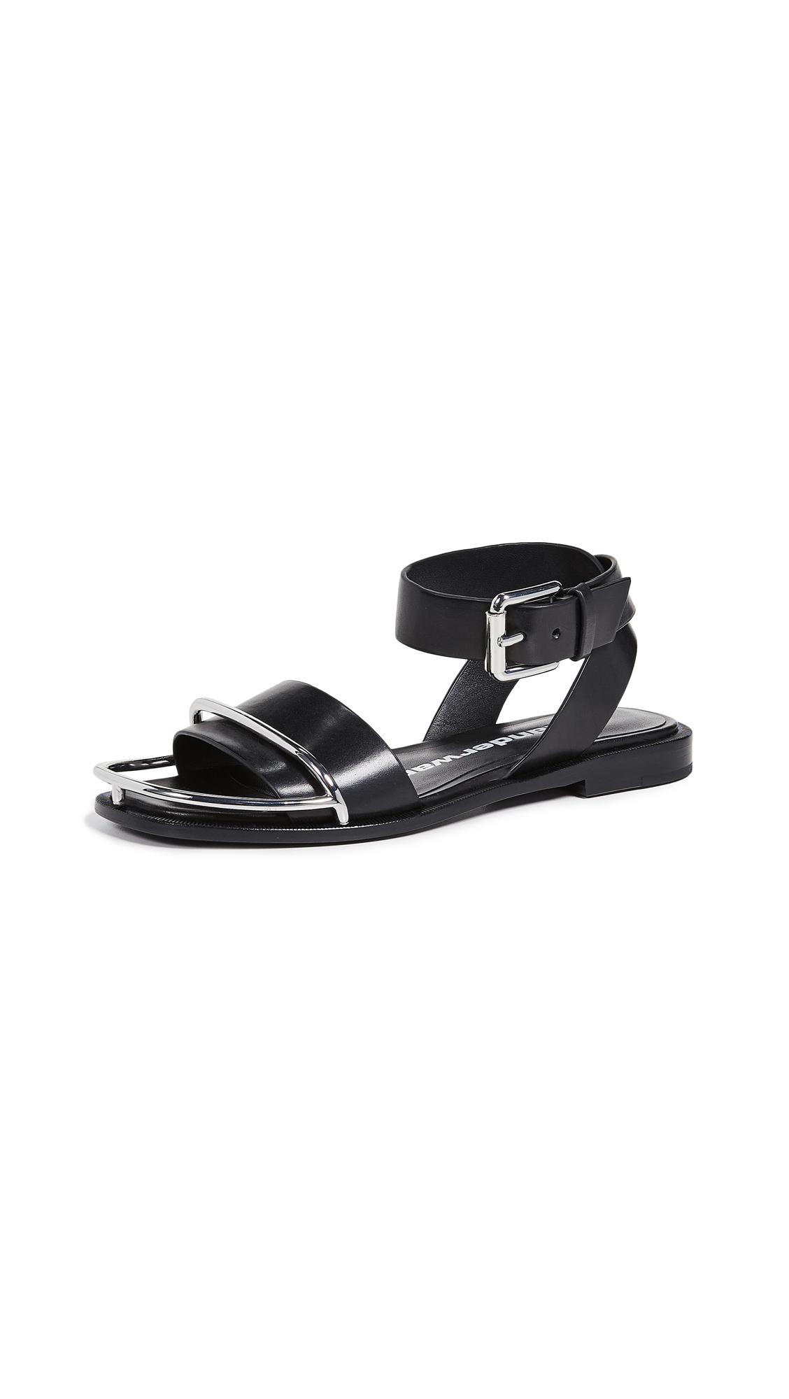 Alexander Wang Sora Halo Flat Sandals - Black