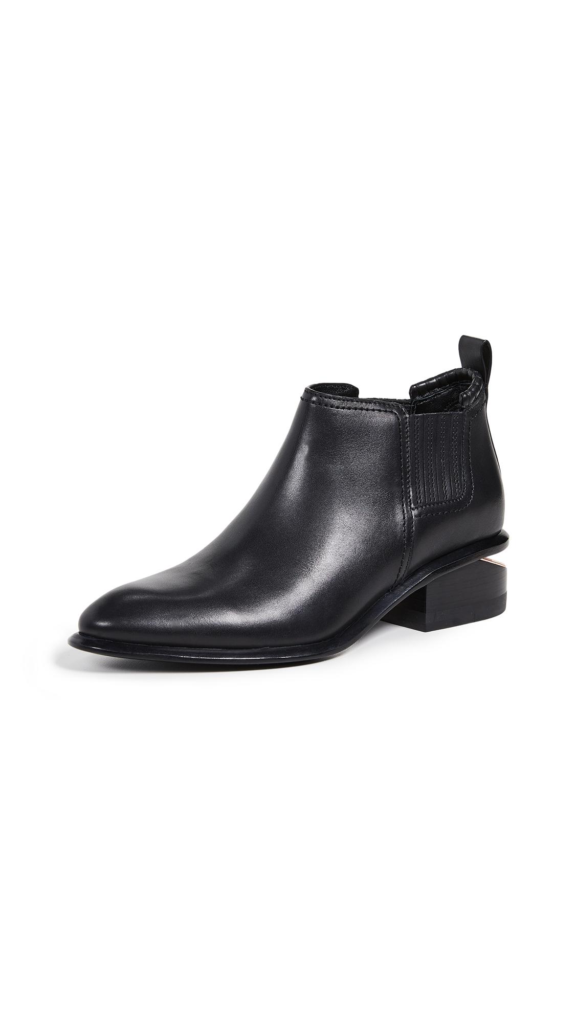 Kori Ankle Booties in Black/Rose Gold