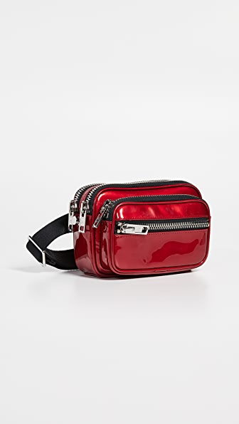 Attica Leather Belt Bag - Red