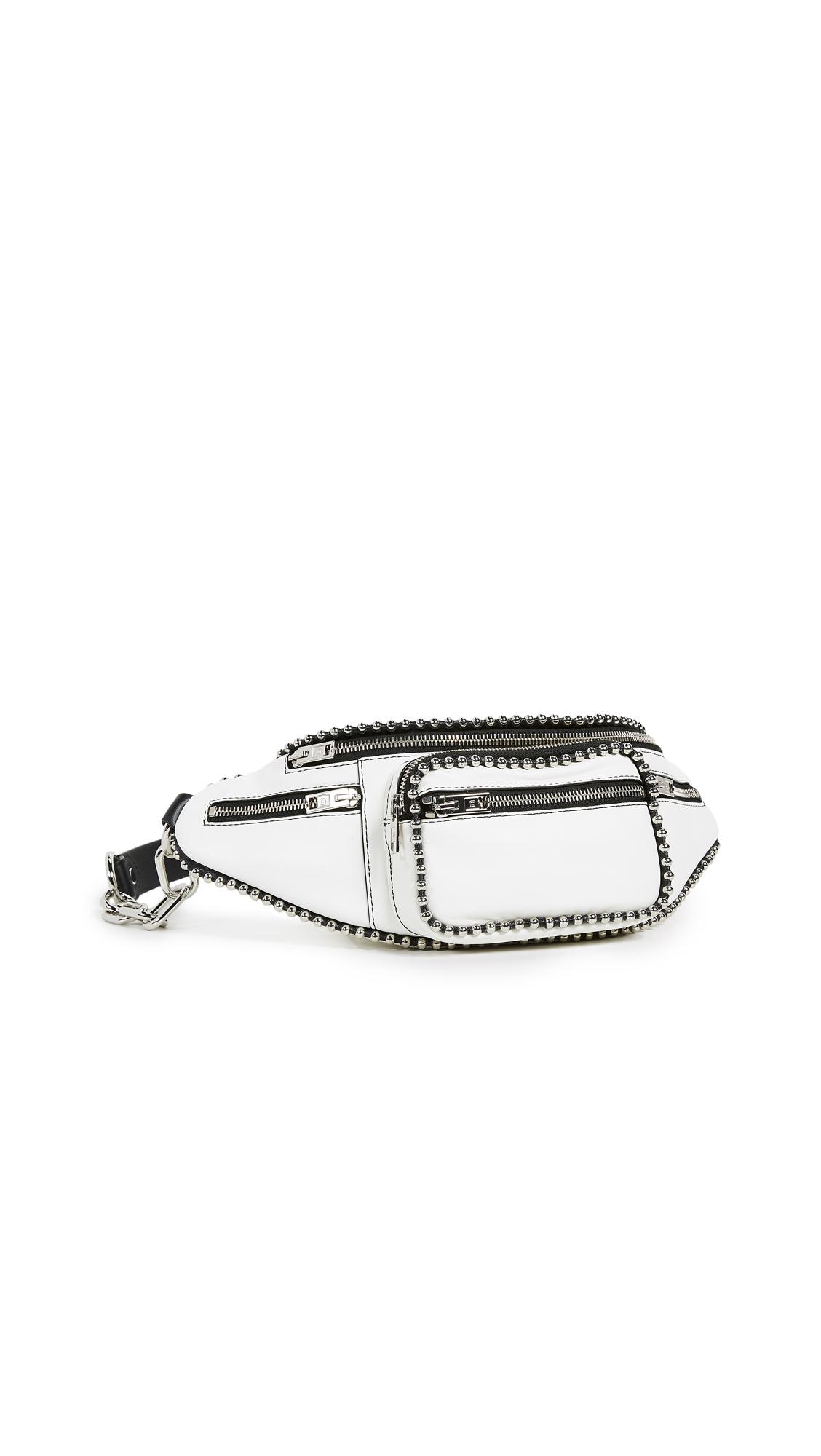 Mini Leather Attica Belt Bag in White