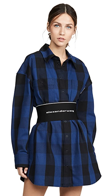 Alexander Wang Plaid Shirtdress