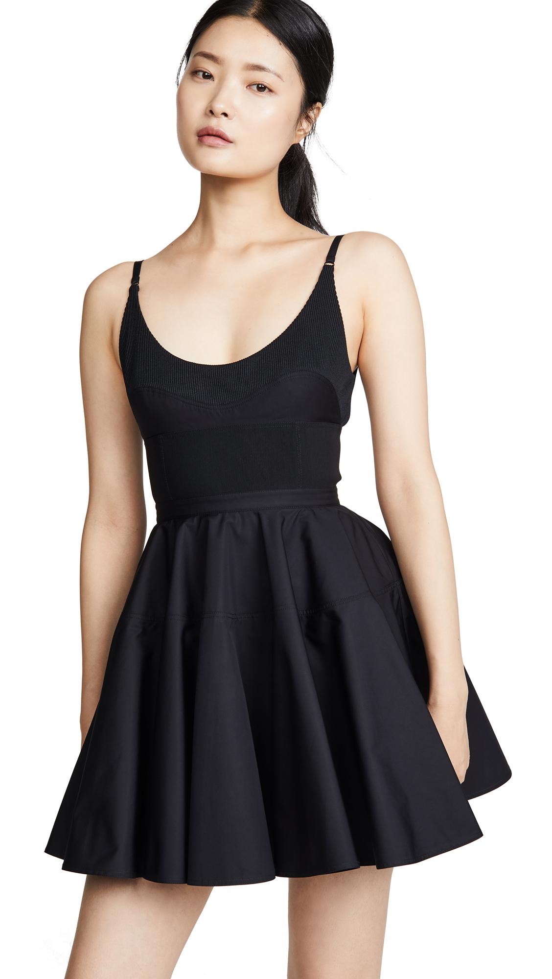 Alexander Wang Poplin Fit and Flare Dress - Black