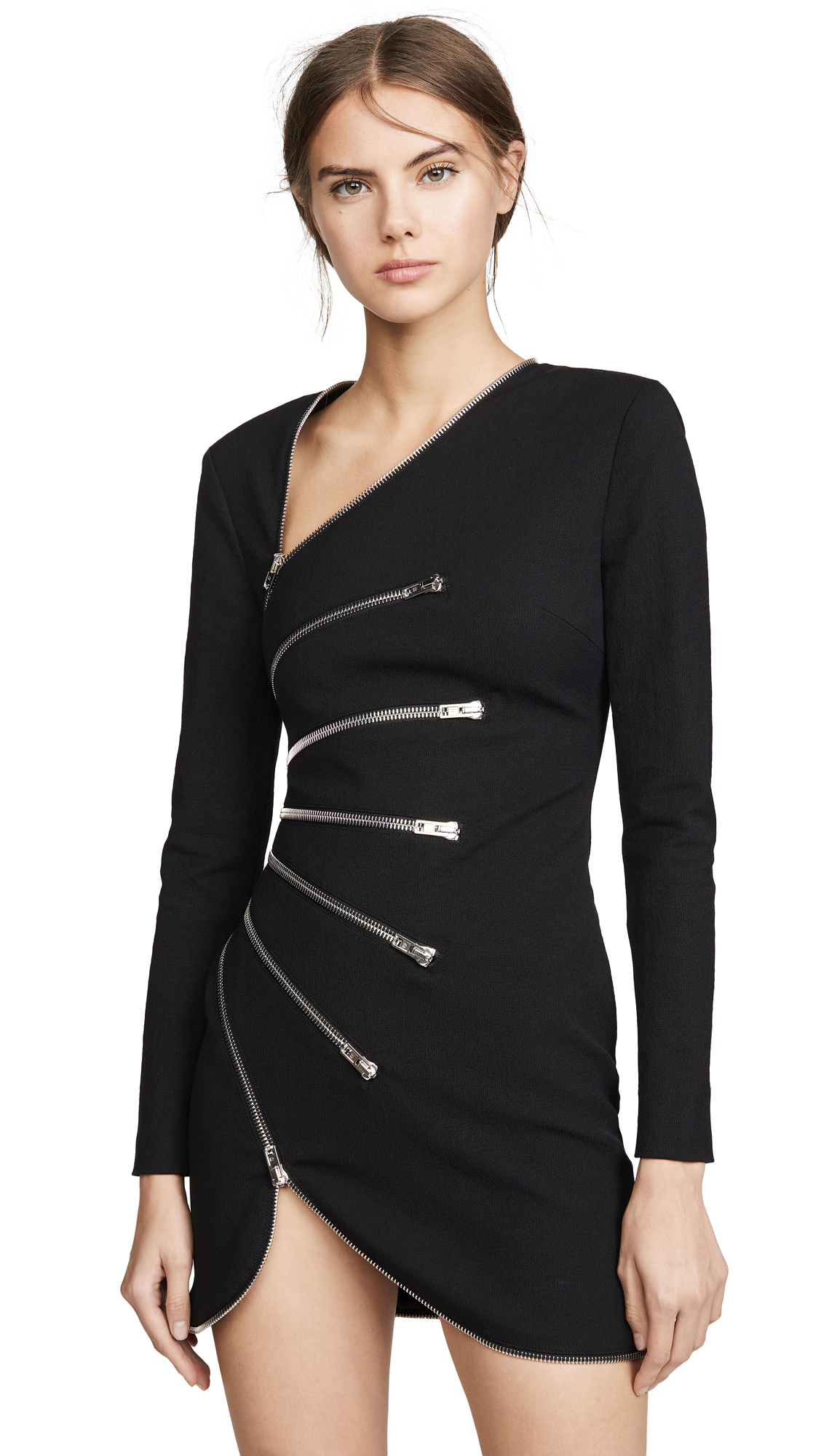 Alexander Wang Long Sleeve Sunburst Zip Dress - 30% Off Sale