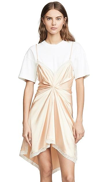 Alexander Wang Cinched T-Shirt Slip Dress