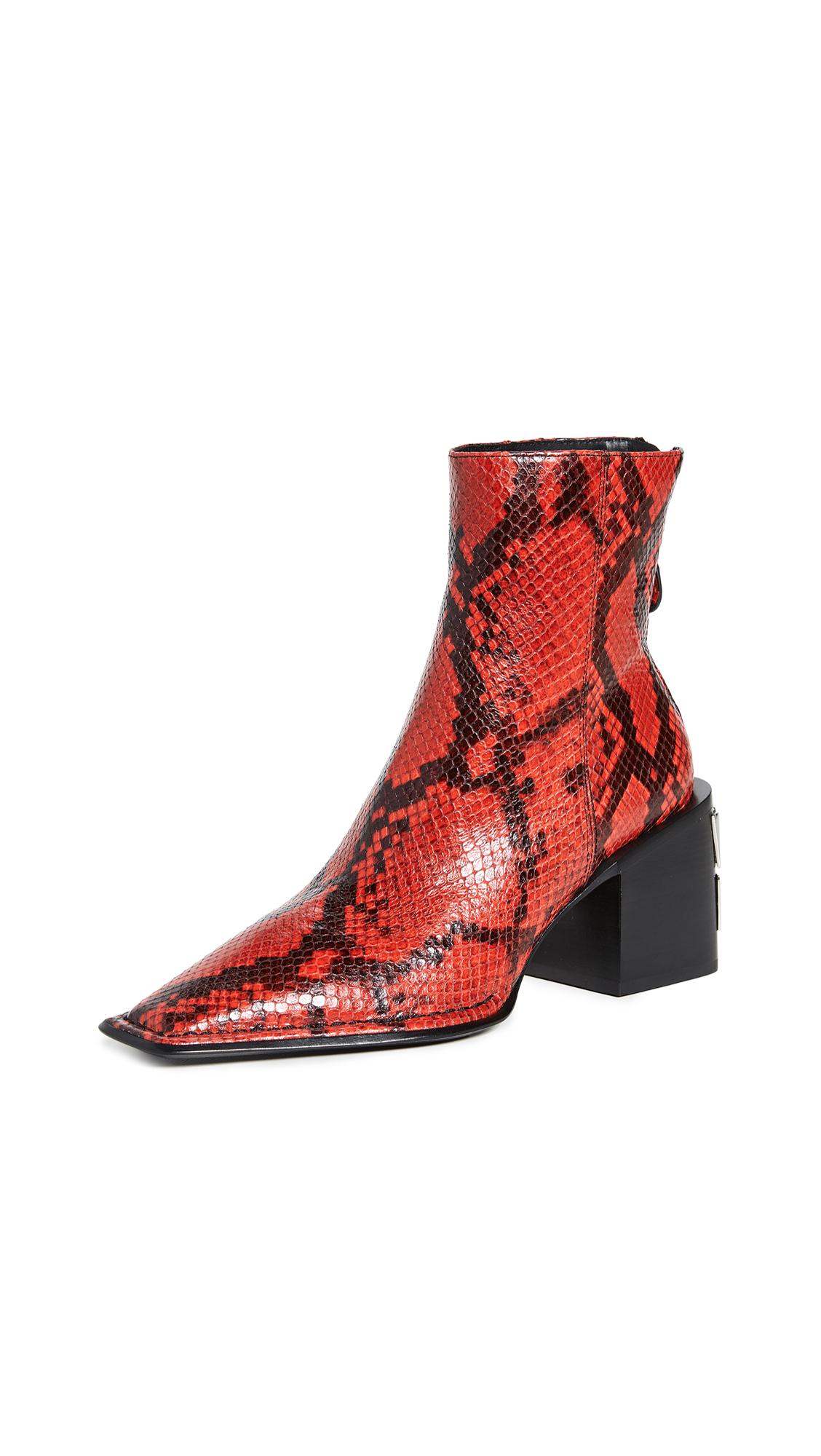 Alexander Wang Parker Boots - Red Snake