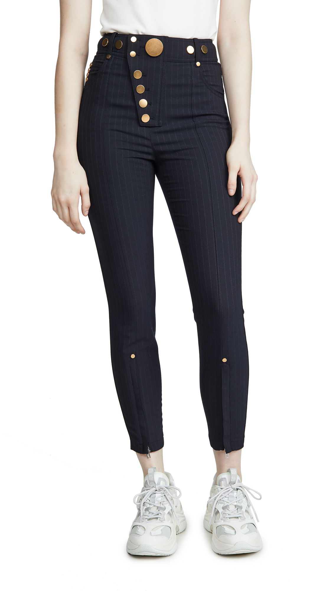 Buy Alexander Wang online - photo of Alexander Wang High Waisted Snap Front Leggings