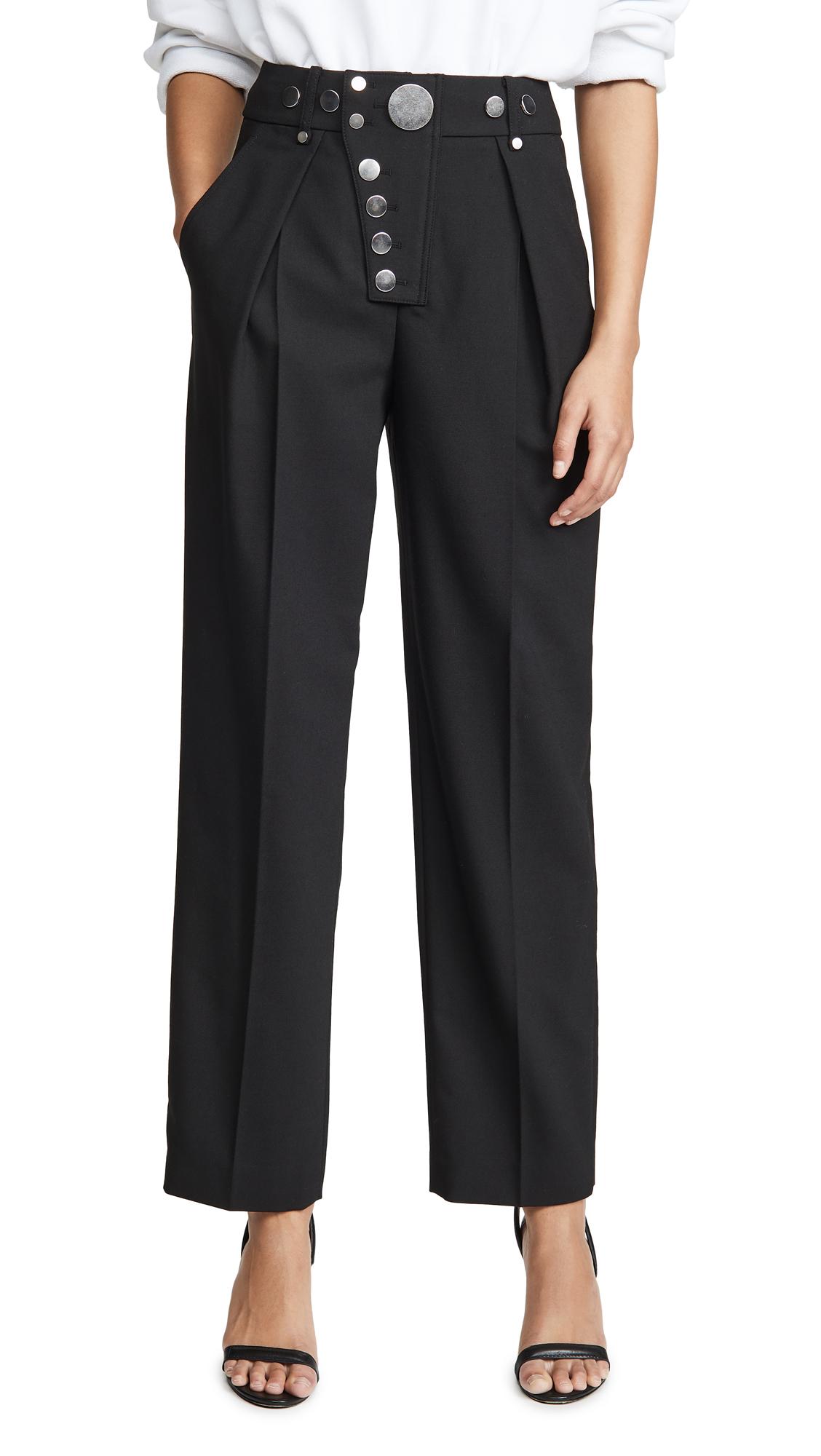 Buy Alexander Wang online - photo of Alexander Wang Wide Leg Snap Placket Trousers
