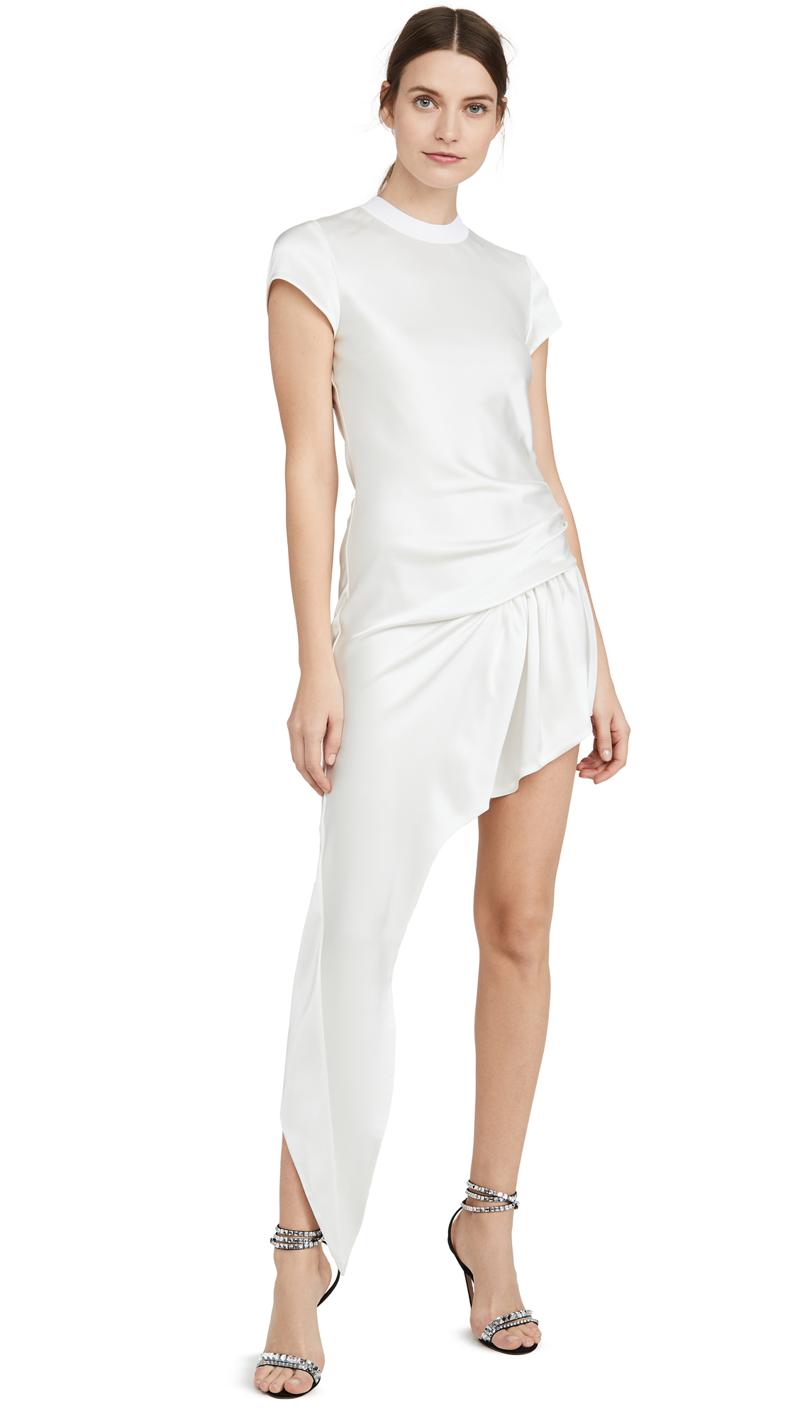 Photo of Alexander Wang Exposed Leg Short Sleeve Dress - shop Alexander Wang Dresses, Strapless online