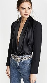 Alexander Wang Blazer Hybrid Bodysuit