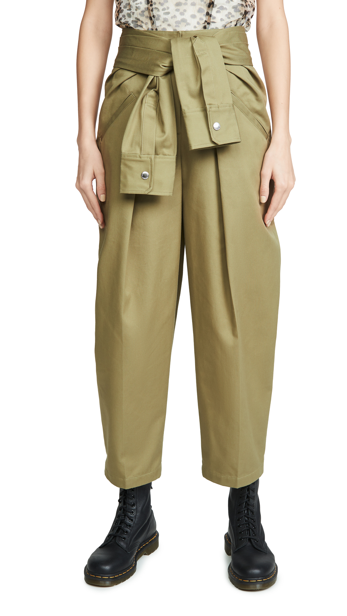 Buy Alexander Wang online - photo of Alexander Wang Cotton Tie Front Waist Trousers