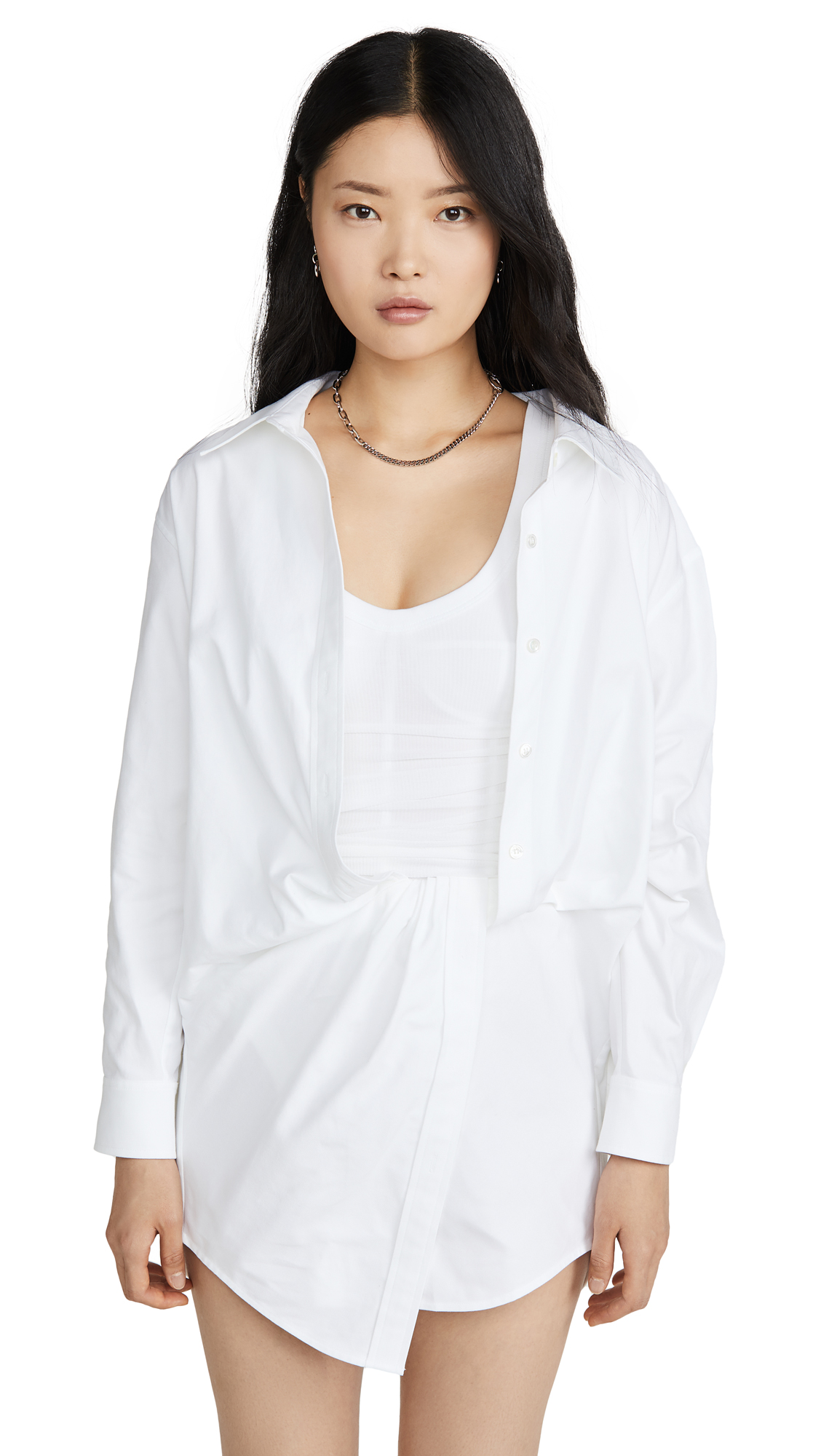 Alexander Wang Falling Twist Shirt Dress - 40% Off Sale