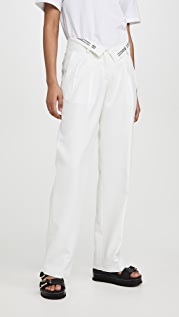 Alexander Wang Mens Trousers with Flipped Waistband