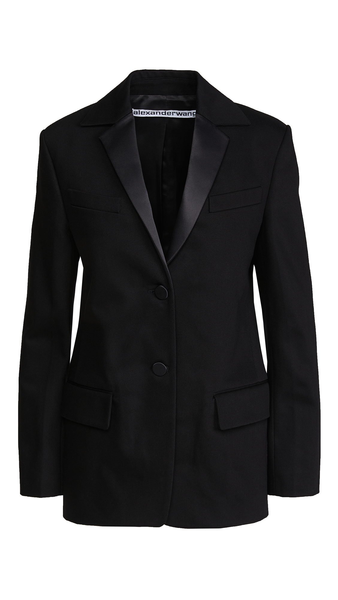 Alexander Wang Boxy Single Breasted Tuxedo Blazer
