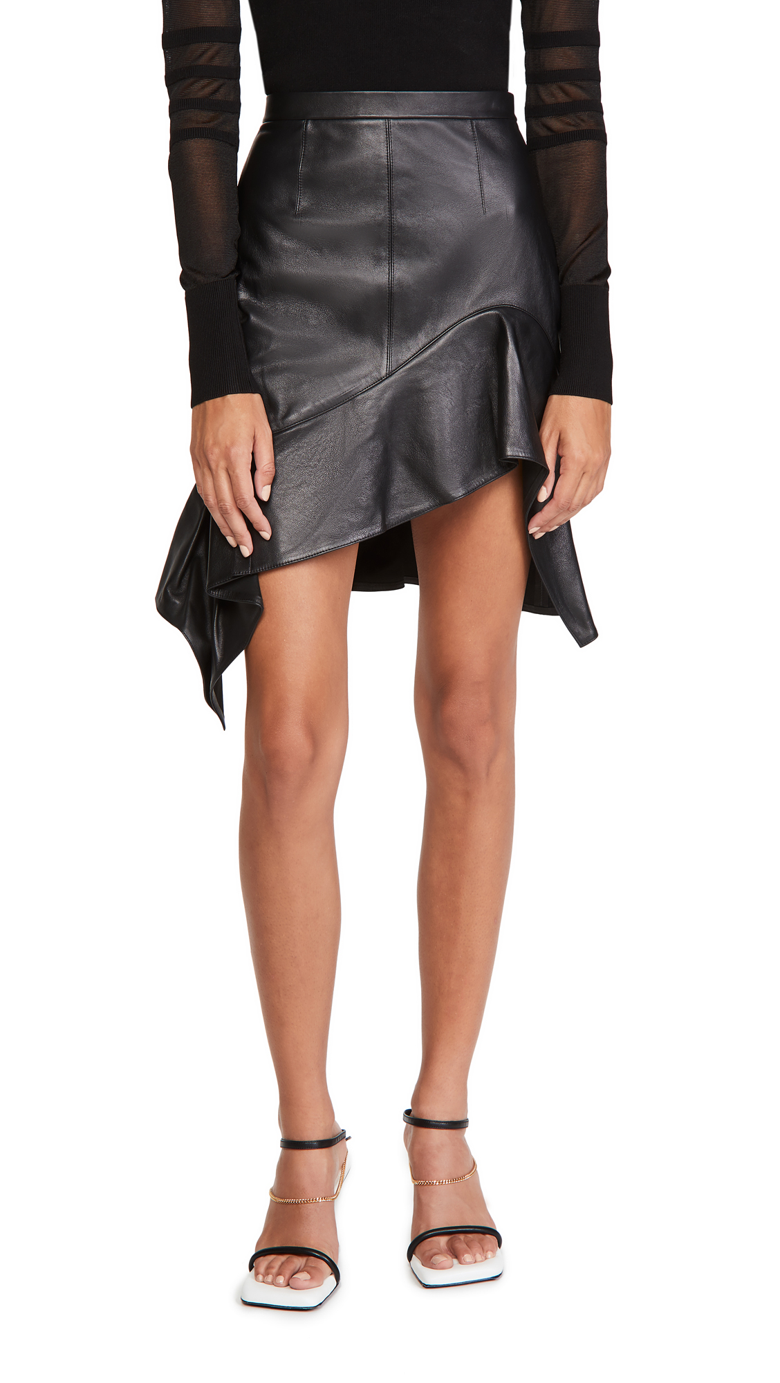 Alexander Wang Deconstructed Miniskirt with Ruffle