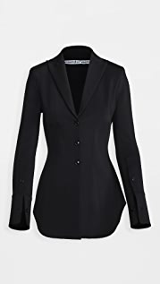 Alexander Wang Fitted Shirt Jacket with Pointed Collar