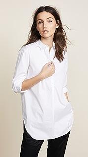 AYR Простая рубашка с планкой до середины длины