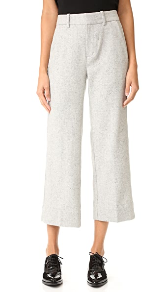 AYR The Cropped Wide Leg Pants - Speckled Dove