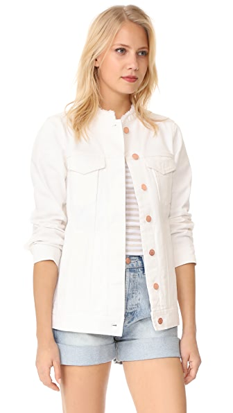 AYR The Doublestar Denim Jacket - White Destroy