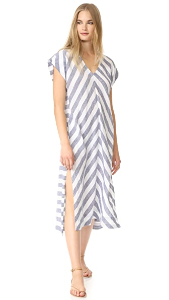 AYR The Maze Dress - Navy/White Stripe