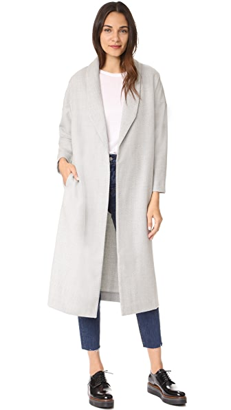 AYR Robe Coat In Light Grey