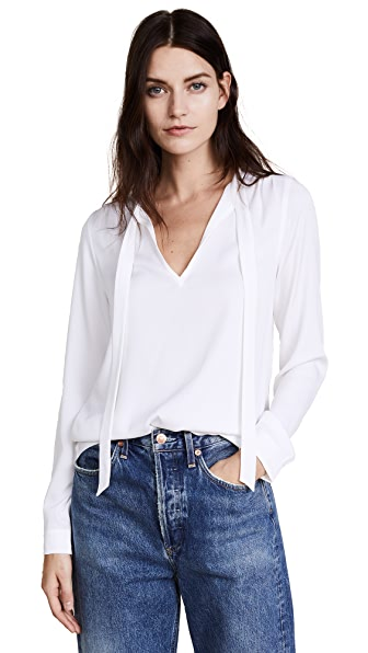AYR The Crane Blouse In White