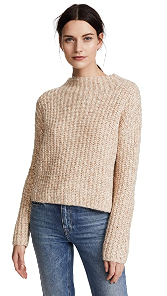 AYR The Puffball Sweater In Heather Oats