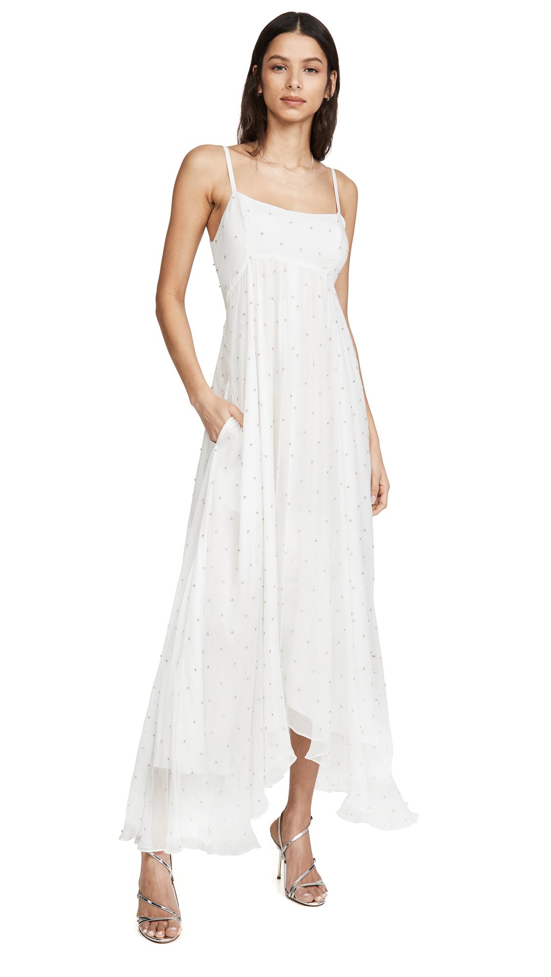 Azeeza White Dress with Cystals - 40% Off Sale