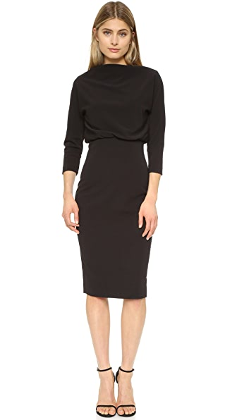 Badgley Mischka Collection Long Sleeve Dress at Shopbop