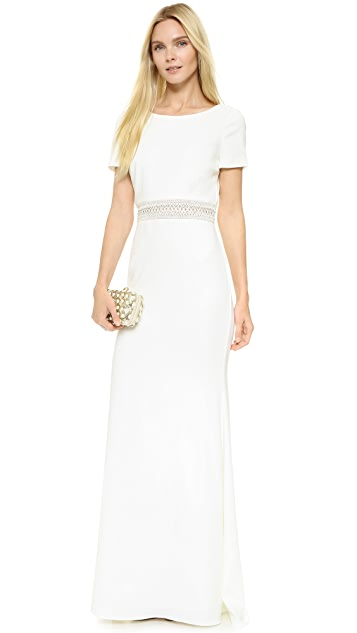 Badgley Mischka Collection V Back Gown