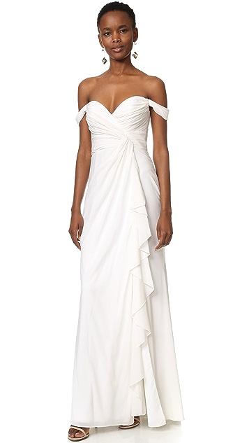 Badgley Mischka Collection Off Shoulder Gown