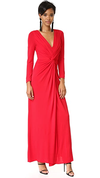 Badgley Mischka Collection Twist Front Gown - Red
