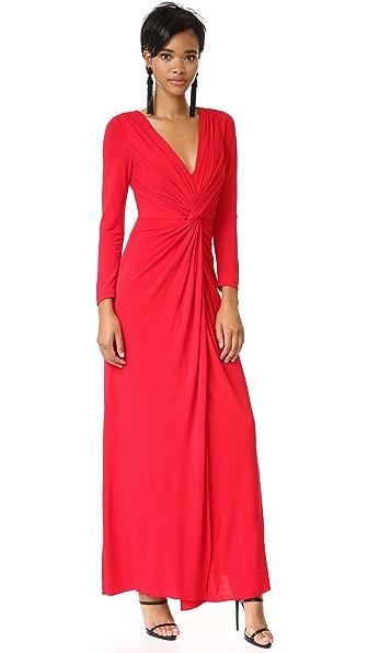 Badgley Mischka Collection Платье с перекрученным передом