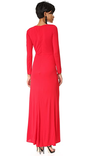 Badgley Mischka Collection Twist Front Gown
