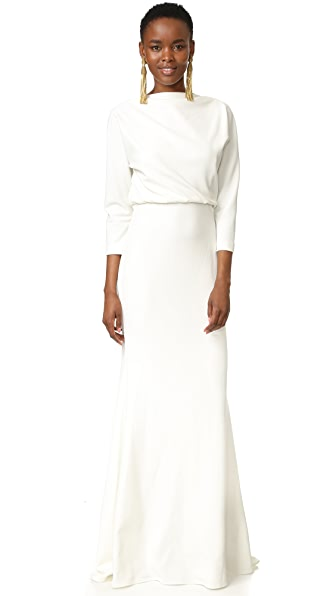 Badgley Mischka Collection Long Sleeve Gown - Ivory