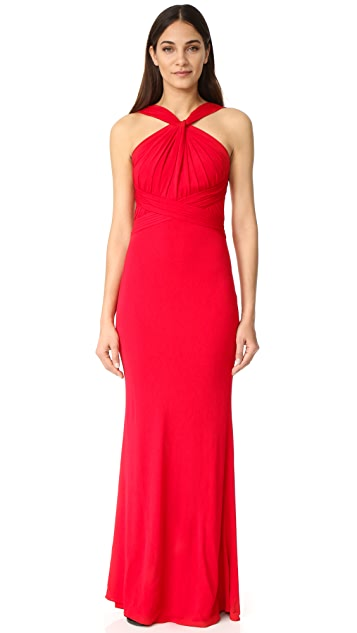 Badgley Mischka Collection High Neck Gown