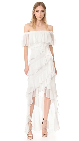 Badgley Mischka Collection Off Shoulder Gown - Ivory
