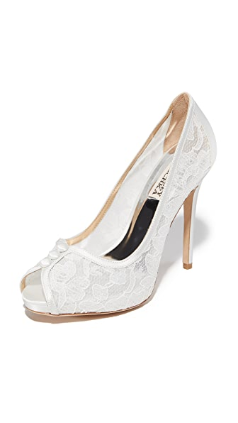 Badgley Mischka Nerissa Pumps - White at Shopbop