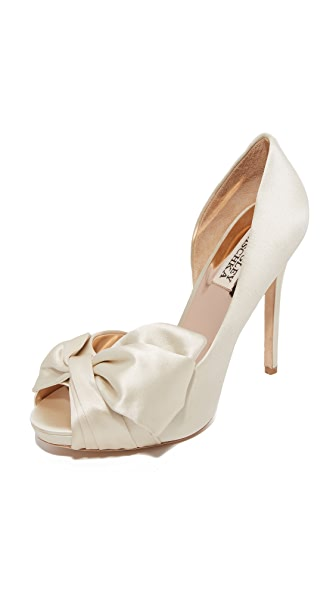 Badgley Mischka Niara Bow Pumps - Ivory at Shopbop