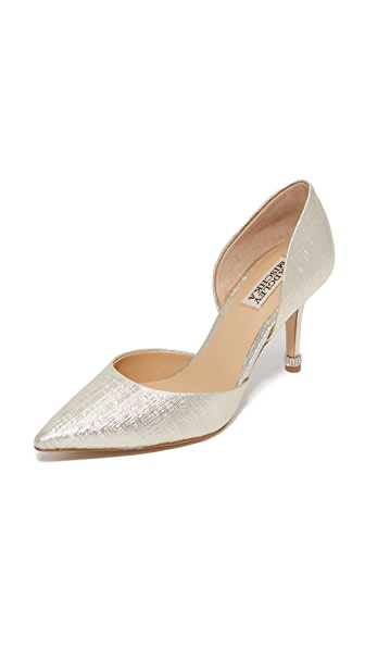 Badgley Mischka Naya D'Orsay Pumps - Platino at Shopbop