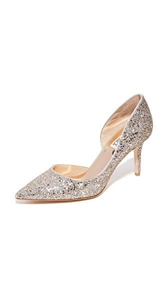 Badgley Mischka Daisy Glitter Pumps - Platino
