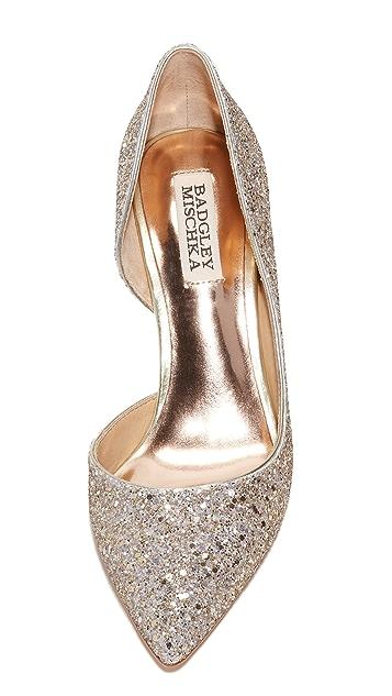 Badgley Mischka Daisy Glitter Pumps