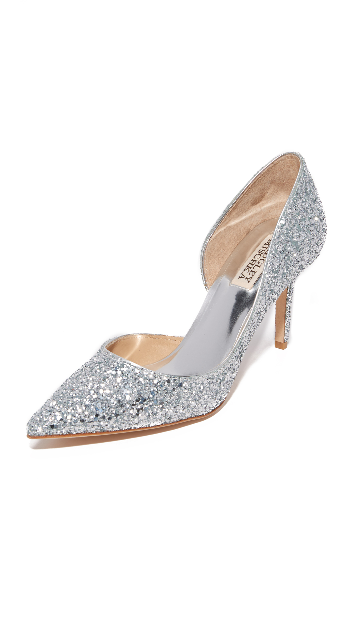 Photo of Badgley Mischka Daisy Glitter Pumps Silver - Badgley Mischka online