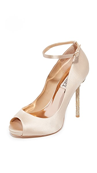 Badgley Mischka Diego Ankle Strap Pumps - Nude at Shopbop