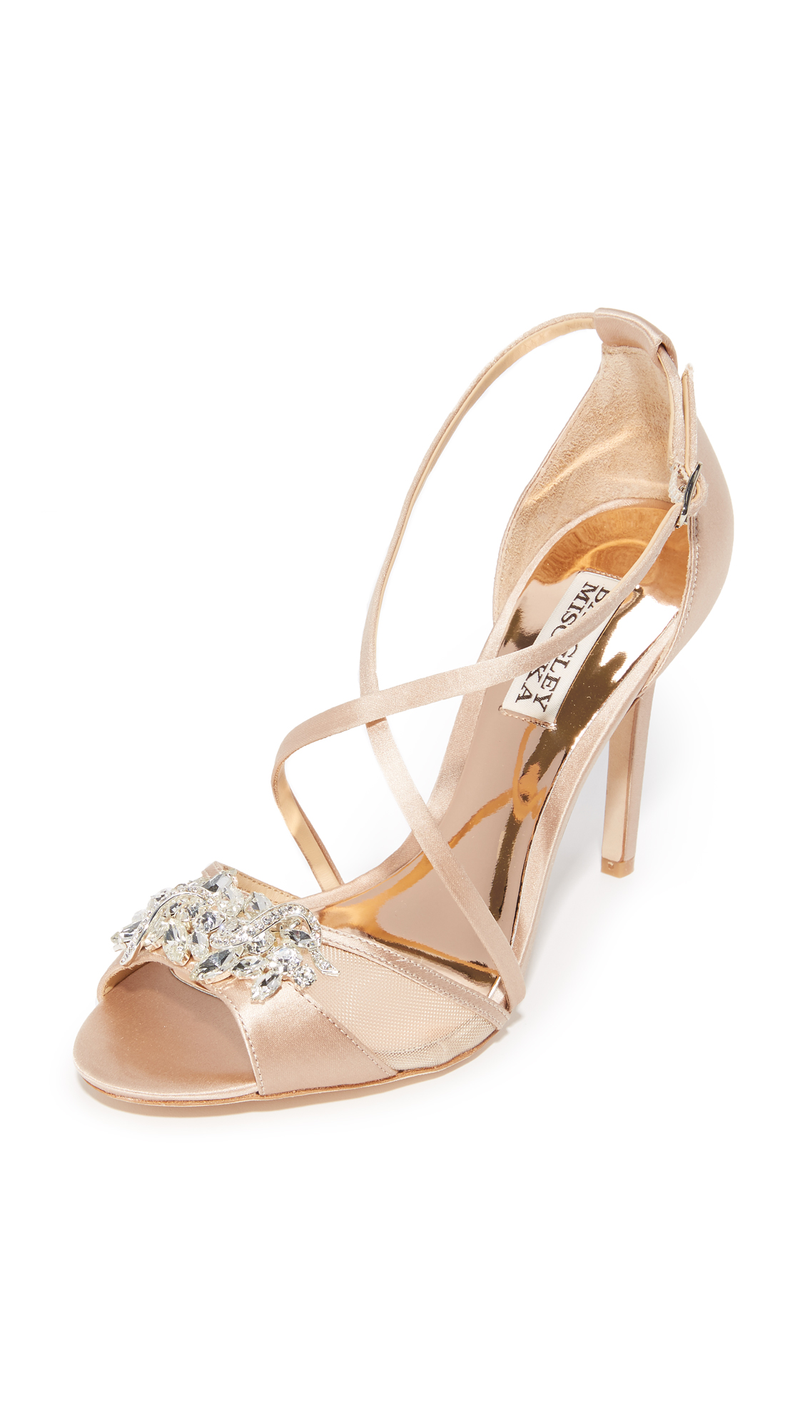 badgley mischka female badgley mischka gala sandals latte