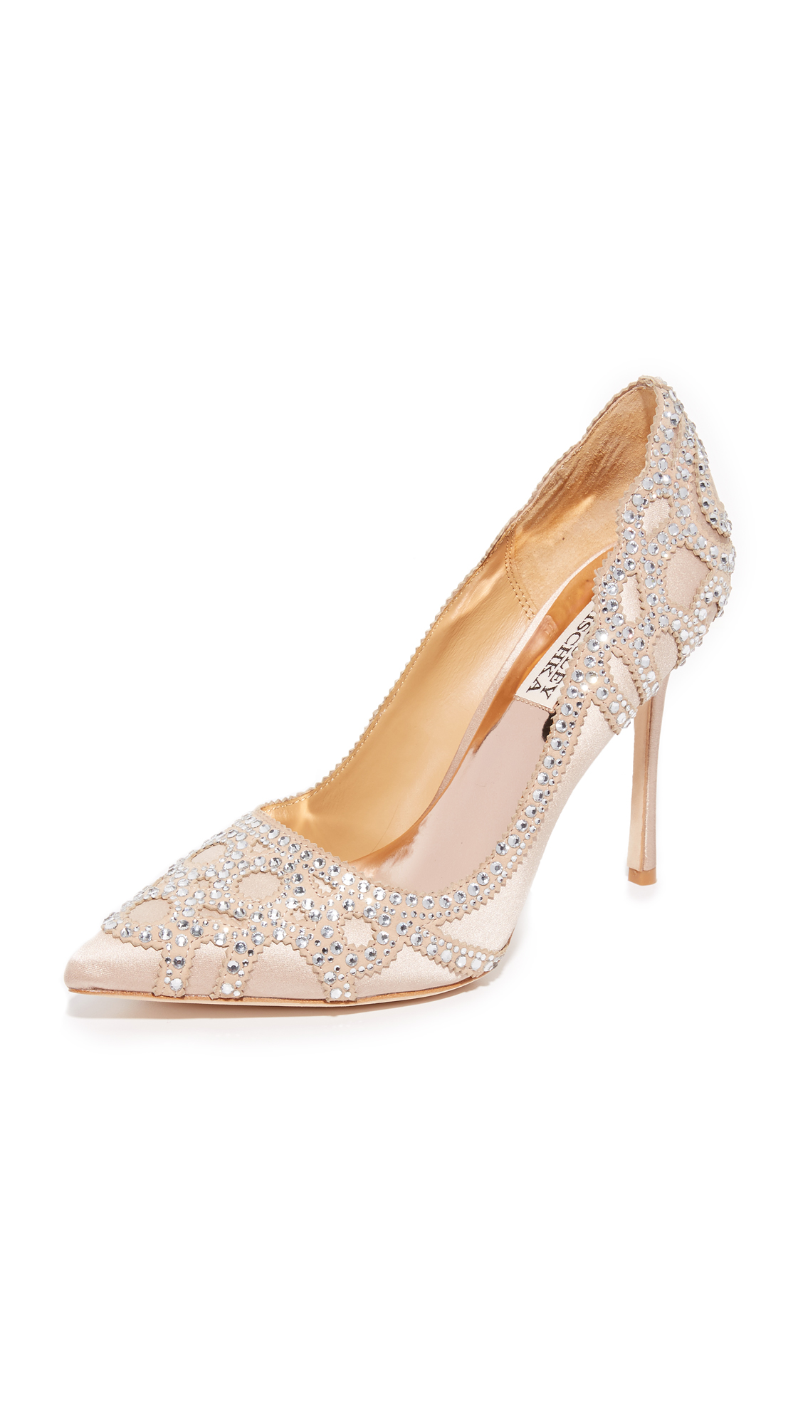 badgley mischka female badgley mischka rouge pumps latte
