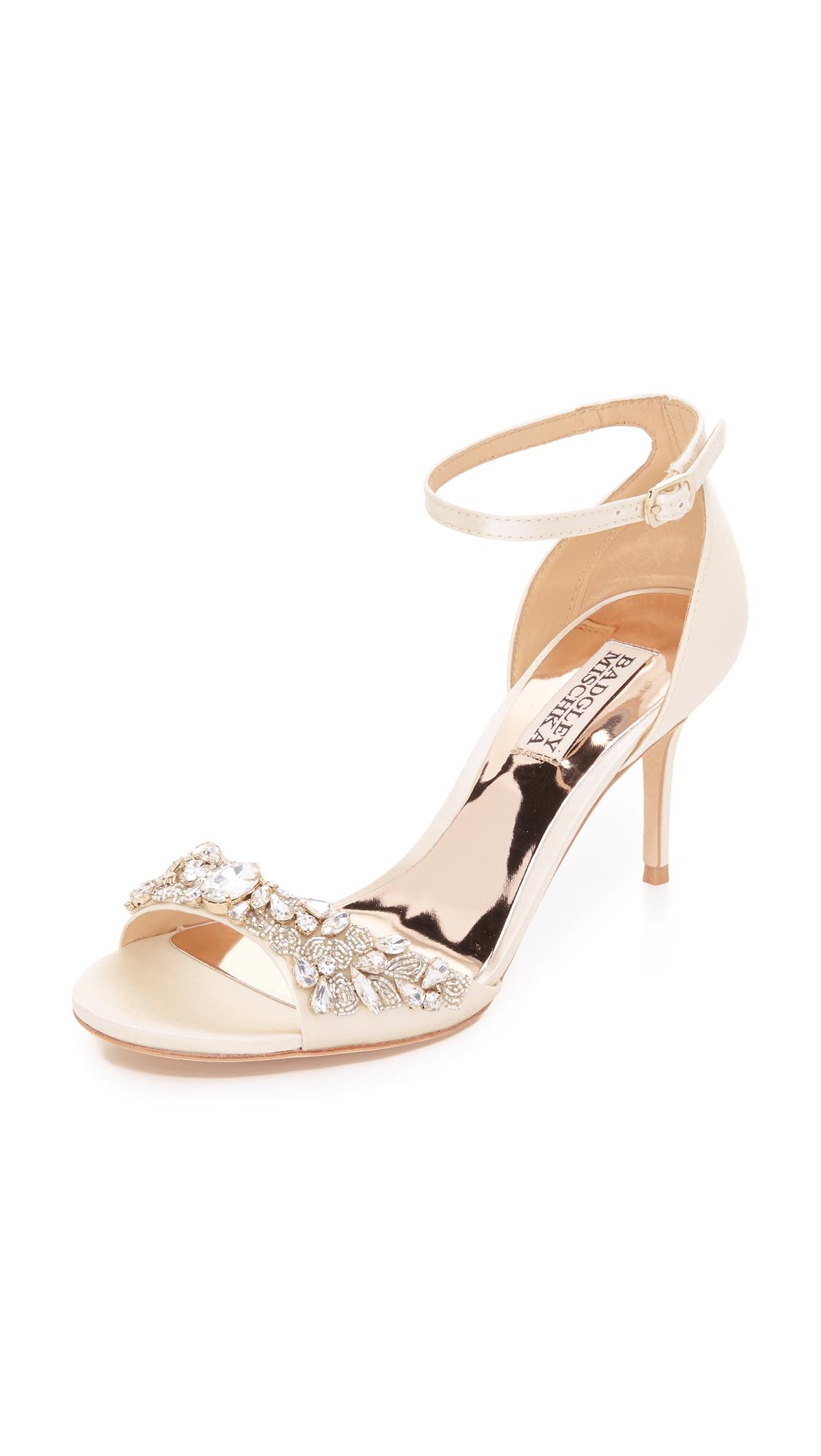 Photo of Badgley Mischka Bankston Sandals Ivory - Badgley Mischka online