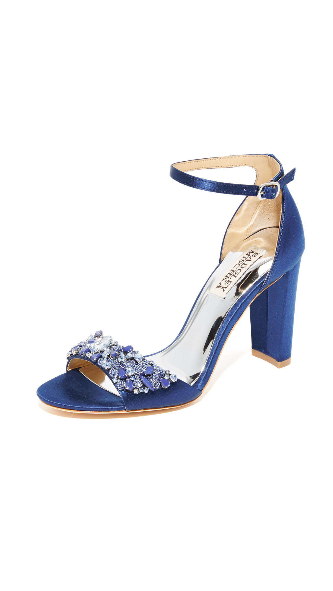 badgley mischka female badgley mischka barby sandals navy