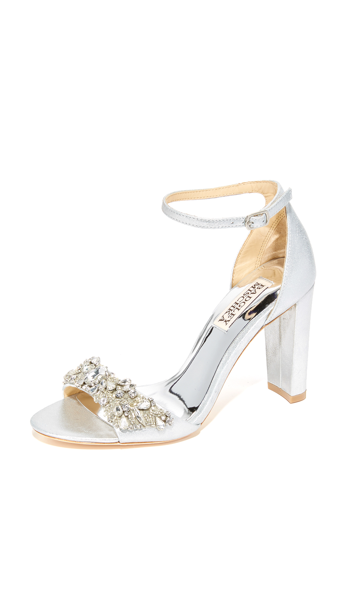 badgley mischka female badgley mischka barby sandals silver